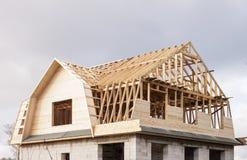 Construção da casa rural Imagens de Stock Royalty Free