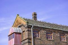 A construção da cerâmica de Middleport aviva dentro em Trent, Staffordshire, Reino Unido imagem de stock