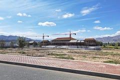 Construção da construção chinesa tradicional nova fotos de stock