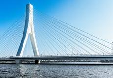 Construção da cidade da ponte moderna Foto de Stock Royalty Free
