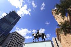 Construção da cidade de Brisbane. Câmara municipal imagem de stock