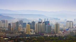 Construção da cidade de Lanzhou Fotografia de Stock