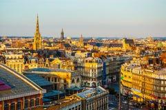 Construção da cidade de Lille fotografia de stock