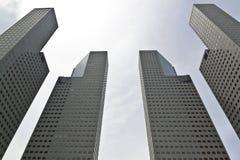 Construção da cidade de Suntec em Singapura Foto de Stock Royalty Free