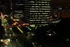 Construção da cidade, luzes da cidade Imagem de Stock Royalty Free