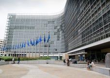 Construção da Comissão Europeia foto de stock