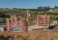 Construção da construção de casas nova, Auckland, Nova Zelândia Fotografia de Stock Royalty Free