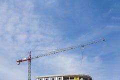 Construção da construção do guindaste Foto de Stock Royalty Free