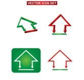 Construção da cor e grupo do ícone da casa Fotografia de Stock Royalty Free