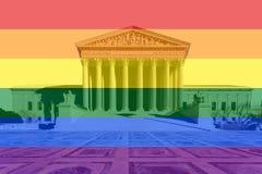 Construção da corte suprema dos E.U. do arco-íris fotografia de stock royalty free