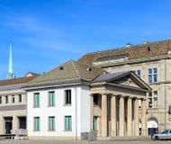 Construção da delegacia de Rathaus em Zurique, Suíça Imagem de Stock