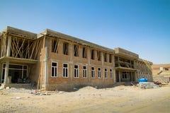 Construção da escola em Afeganistão imagens de stock