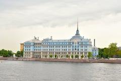 A construção da escola naval de Nakhimov em St Petersburg Fotografia de Stock Royalty Free
