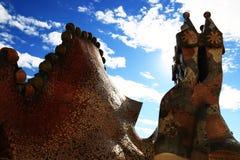 Construção da Espanha, casa Batllo Foto de Stock