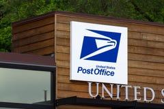 Construção da estação de correios do Estados Unidos Foto de Stock