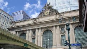 Construção da estação de Grand Central ao longo da 42nd rua, New York City, EUA Fotos de Stock