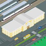 A construção da estação de trem ilustração stock