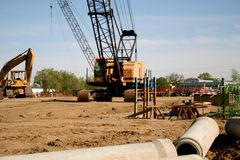 Construção da estrada Fotografia de Stock