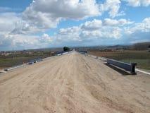 Construção da estrada de ferro do trem de alta velocidade espanhol, avenida Imagens de Stock Royalty Free