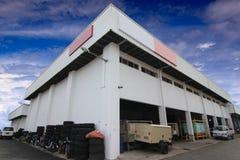 Construção da fábrica fotografia de stock