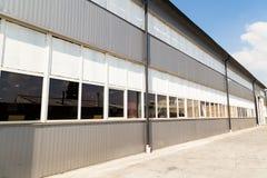 Construção da fabricação Território da planta foto de stock