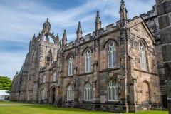Construção da Faculdade da universidade de Aberdeen do rei Este é o mais velho fotografia de stock