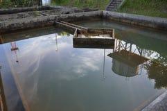 Construção da filtragem da água da drenagem Fotos de Stock