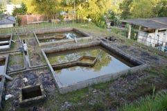 Construção da filtragem da água da drenagem Imagem de Stock Royalty Free