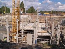 Construção da garagem subterrânea Foto de Stock