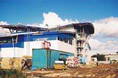 Construção da construção inferior complexa dos esportes Fotografia de Stock
