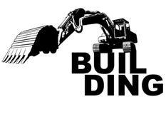 Construção da máquina escavadora Imagem de Stock Royalty Free