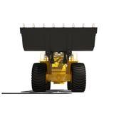 Construção da máquina escavadora do carregador isolada Imagem de Stock