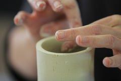 Construção da mão com argila Imagens de Stock Royalty Free