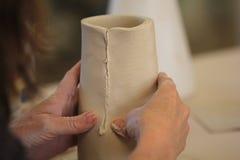 Construção da mão com argila Fotografia de Stock Royalty Free