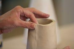Construção da mão com argila Fotos de Stock Royalty Free