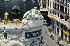Construção da metrópole, Madri, Espanha fotos de stock