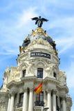 Construção da metrópole, Madri, Espanha fotografia de stock royalty free