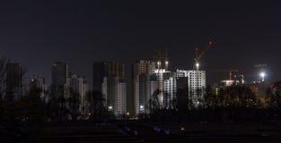 Construção da noite Imagens de Stock Royalty Free