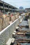 Construção da paredão de Seattle Fotos de Stock