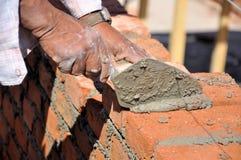 Construção da parede Fotografia de Stock Royalty Free
