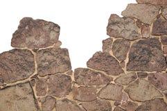 Construção da parede de pedra Fotos de Stock Royalty Free
