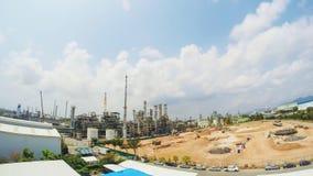 Construção da planta industrial, lapso de tempo filme