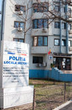 Construção da polícia local Fotos de Stock