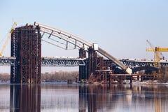 A construção da ponte fotografia de stock royalty free