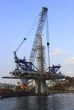 Construção da ponte do metro Imagem de Stock