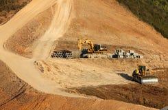 Construção da represa s Fotografia de Stock Royalty Free