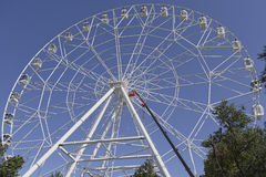 Construção da roda de Ferris 65 medidores Imagens de Stock Royalty Free