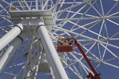 Construção da roda de Ferris 65 medidores Fotos de Stock