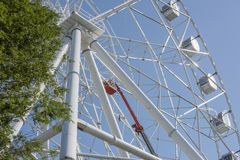 Construção da roda de Ferris 65 medidores Fotografia de Stock Royalty Free