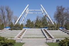 Construção da roda de Ferris 65 medidores em Rostov-On-Don Foto de Stock Royalty Free